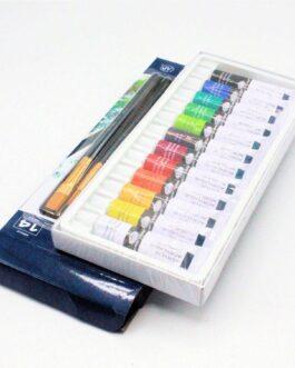 Akrüülvärv komplekt 12 Värvi 12ml Pintsliga