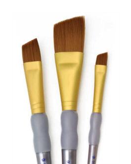 Pintsel komplekt Crafters Choice™ 3tk Brown Taklon Lõigatud Nurgaga