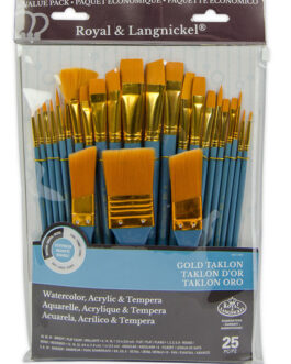 Pintslite komplekt sünteetiline 25tk Gold Taklon Royal & Langnickel