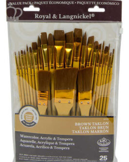 Pintslite komplekt sünteetiline 25tk brown taklon Royal & Langnickel