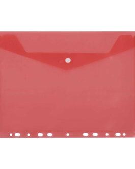 Kiletasku D.Rect 11-Holes Transparent Red
