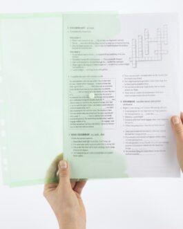 Kiletasku D.Rect 11-Holes Transparent Green