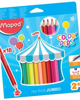 Värvipliiats Maped Color'Peps Early Age Jumbo 18 Värvi