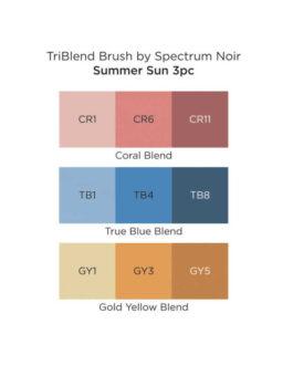 Marker Spectrum Noir Kolm ühes pintselotsaga Summer Sun 3tk