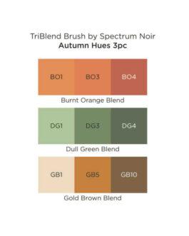 Marker Spectrum Noir Kolm ühes pintselotsaga Autumn Hues 3tk