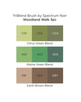 Marker Spectrum Noir Kolm ühes pintselotsaga Woodland Walk 3tk