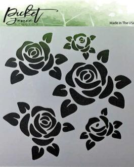 Šabloon Roses 15,24×15,24cm