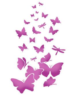 Šabloon A4 Butterflies