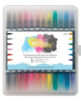 Artiste Watercolour Dual-Tip Tindipliiatsid 12pk Brush & Marker